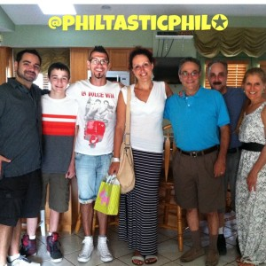Lisa and Giuseppe (center) surrounded by a few members of my family.  Picture taken by Samantha.
